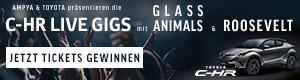 Gewinne Tickets für die exklusiven C-HR Live Gigs mit Roosevelt & Glass Animals